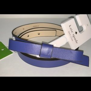 "New Kate Spade  Bow Belt Bleu M  34"" inc"